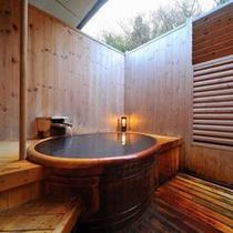 貸切風呂「山茶花(さざんか)」は大人気!鎌先のにごり湯に浸かって