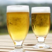 ■テラスでビール