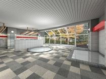 【下湯原温泉】大浴場・平成28年2月27日リニューアル・オープン完成予想図
