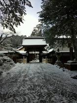 冬の西禅院