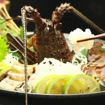 【夕食】伊勢海老のお造り