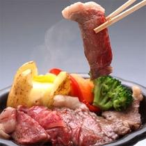 *夕食一例 「山形牛ステーキ」