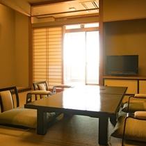 *客室一例/落ち着いた和室は全てオーシャンビュー。日本海の大海原の眺望をお楽しみ頂けます。