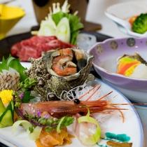 *お食事一例/湯野浜の食をお楽しみ頂ける品々をお召し上がり下さい。