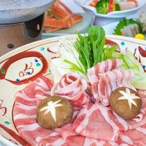 *お食事一例/日本最高ブランド「米の娘豚」。とろけるようなお肉をしゃぶしゃぶで。