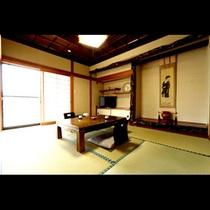 特別離れ和室(囲炉裏付)には14畳の和室もついています。