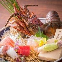 【造里】伊勢海老 マグロ 他三種 五味菜