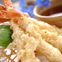 ◆別注料理:かに足天ぷら2本