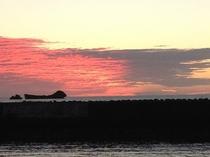 宿から見た朝の風景