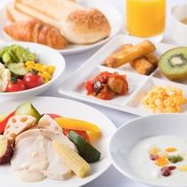 朝食 洋食盛り付け(一例)