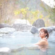 *【八方温泉おびなたの湯】日本有数のpH値11.2!高アルカリ性の「白馬八方温泉」でお寛ぎください。