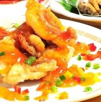 金目鯛のフルーツソース