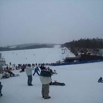那須のスキー場はカップルや家族ずれが多いよ~
