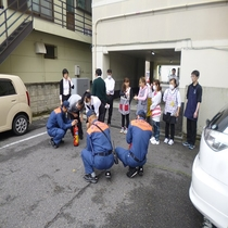 2016年5月10日消防訓練消防署員立ち合いホテルスタッフ全員参加の元実施