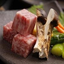 松茸と飛騨牛ステーキ