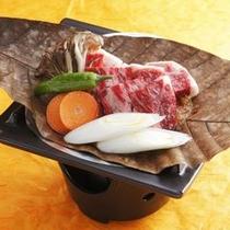朴葉味噌ステーキ