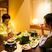 ■食事処旬  和風会席を二人でゆっくり味わう