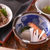 【ご夕食(酢の物)】家庭的な味わいのある京料理(一例)