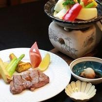 炙りステーキとタジン鍋