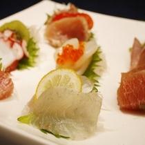 【料理】コース料理(お造り・一例)