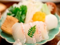 2013冬期料理 鯛しやぶしゃぶ