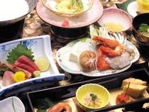 海鮮鍋の付いたお膳