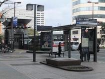 ホテル前のバス停『祇園町』