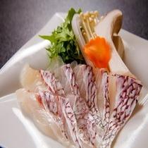 選べるメイン料理「鯛しゃぶ」