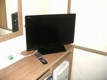 シングル・デラックシングルのお部屋に26インチテレビを設置