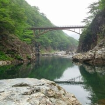 龍王峡に掛かる橋
