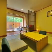【和風モダン/和室10畳+広緑】ソファベッドを置いた広縁