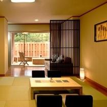 【和風モダン/和室10畳+広緑】琉球畳を敷き詰めた10畳の和室
