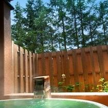 【和風モダン/洋室ツイン+畳リビング】リビングルームは素足に優しい畳敷きで、窓辺には露天風呂をご用意