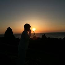 ろうそく岩でこんなロマンティックな写真も♪