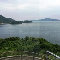 和室(角部屋)からの眺め♪日本海の壮大な眺めが楽しめます!
