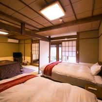 【スタンダード室】8畳+6畳 ~ベッドタイプ~