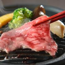秋のお料理例 栃木のお肉を陶板焼きでどうぞ