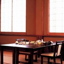 【お食事処】朝食はこちらでお召し上がりください