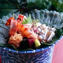 【お造り盛り合わせ一例】天草ならではの地魚のお造り!お刺身好きの人におすすめです