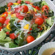 【朝食一例】サラダは食べ放題♪消化にもいい野菜・海藻をたっぷりお召し上がりください!