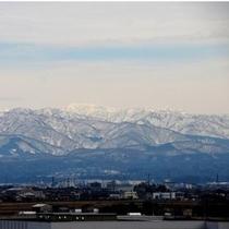 「客室からの景観(白山連峰)」