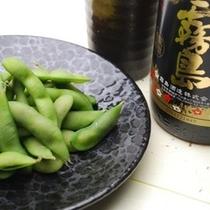 夕食「黒豆枝豆」