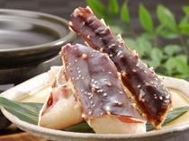 【夕食】選べる焼物<蟹の一例>