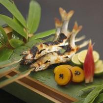 鮎塩焼き/竹盛り(夏)