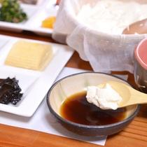 """*ご朝食一例/夏にぴったりな""""おぼろ豆腐""""。薬味と一緒にお召し上がり下さい。"""