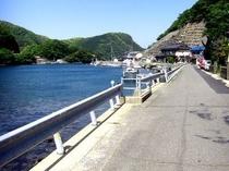 旅館の前海2