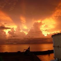【屋上露天風呂】小浜が誇る夕陽の眺め