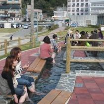 日本一長い105m足湯