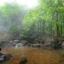 露天温泉岩風呂(朝靄イメージ)
