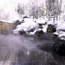 露天温泉岩風呂(雪見イメージ)